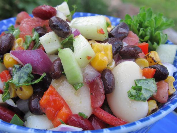 Mediterranean Three Bean Salad. Photo by Rita~