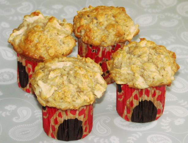 Banana Apple and Oatmeal Muffins. Photo by Boomette