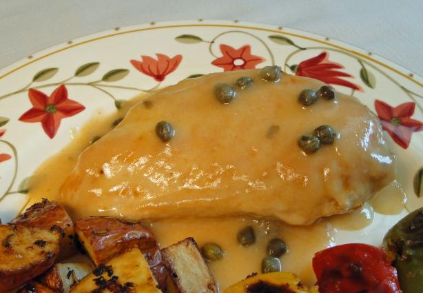Weight Watchers Chicken Breasts With Caper Sauce for Two. Photo by Debbwl