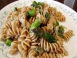 Fusilli With Spinach, Asparagus, and Asiago Cheese