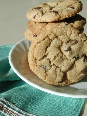Gluten Free Chocolate Chip Cookies (Gluten, Egg, Dairy Free). Photo by Chrishanna