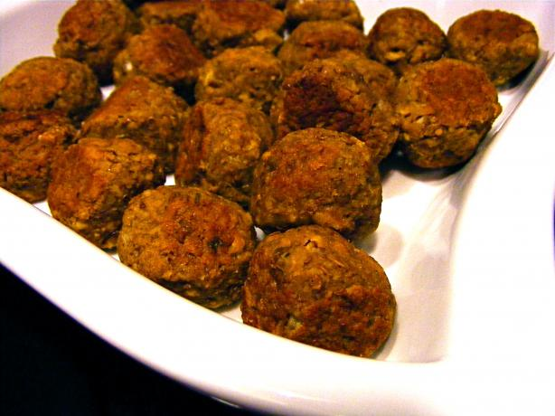 Mini Lentil Meatballs. Photo by Kozmic Blues