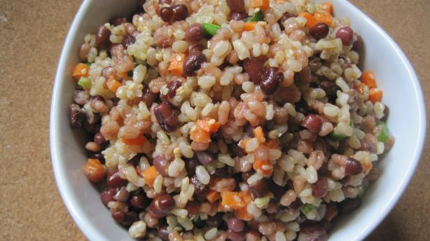 Adzuki Bean, Brown Rice Barley Salad. Photo by magpie diner