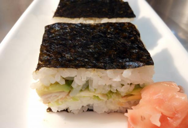 Salmon Nori Slice (Or Bar). Photo by JustJanS