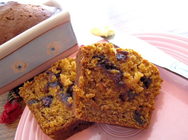 Pumpkin Bread With Mini Chocolate Chips. Photo by loof