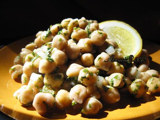 Chickpea Salad With Lemon, Parmesan, and Fresh Herbs. Photo by Annacia
