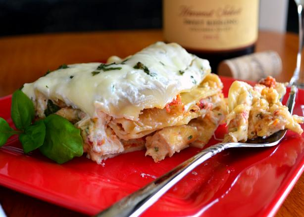 Creamy White Chicken & Artichoke Lasagna. Photo by Marg (CaymanDesigns)