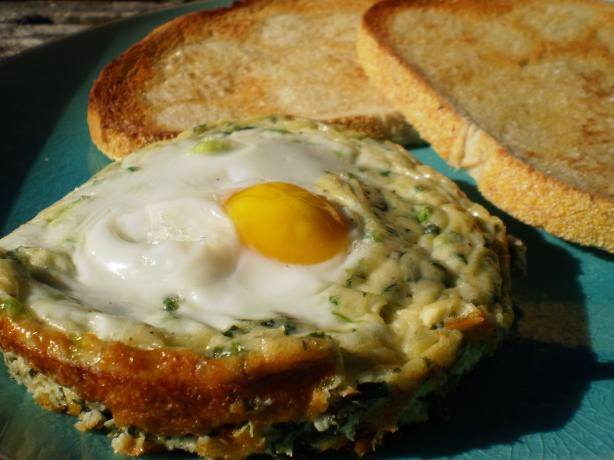 Baked Spinach and Eggs. Photo by breezermom