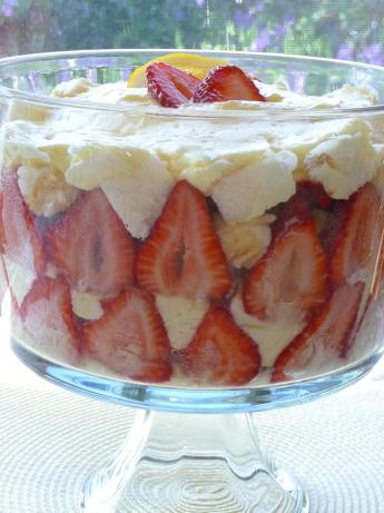 Strawberry-Lemon Angel Food Trifle. Photo by BecR