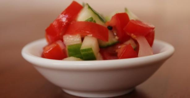 Ethiopian Tomato & Cucumber Salad. Photo by mickeydownunder