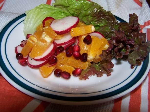 African Orange Spice Salad. Photo by Chef Jean