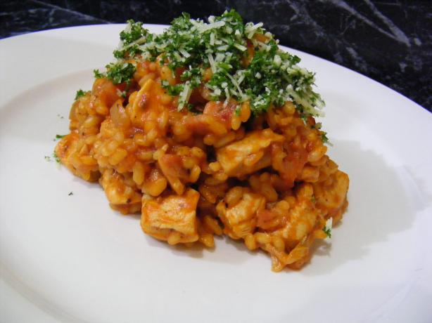 Chicken Cacciatore Risotto. Photo by Sara 76