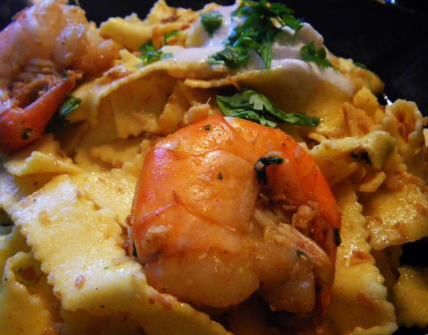 Tropical Island's Pasta With Shrimps and Coconut. Photo by awalde