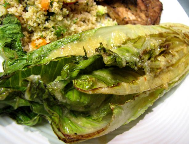 Grilled Romaine Hearts With Caesar Vinaigrette. Photo by loof