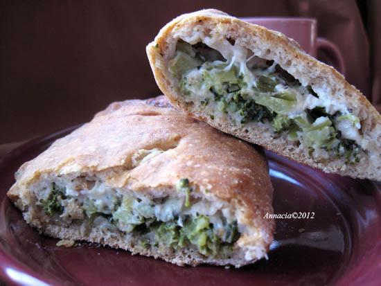 Broccoli and Cheese Calzones. Photo by Annacia