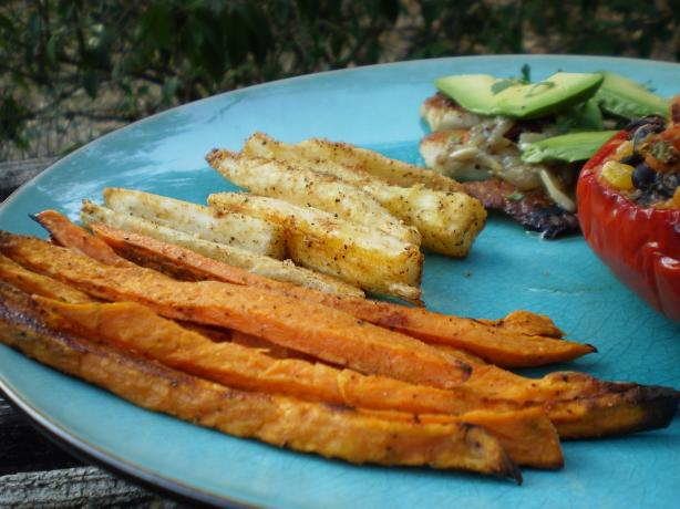 Sweet Potato and Yuca Oven Fries. Photo by breezermom
