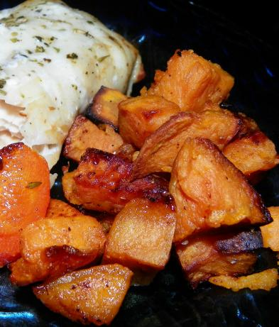 Coconut Oil Roasted Sweet Potatoes. Photo by Baby Kato