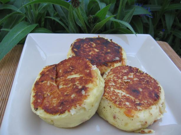 Llapingachos - Potato Cakes Filled With Cheese. Photo by K9 Owned