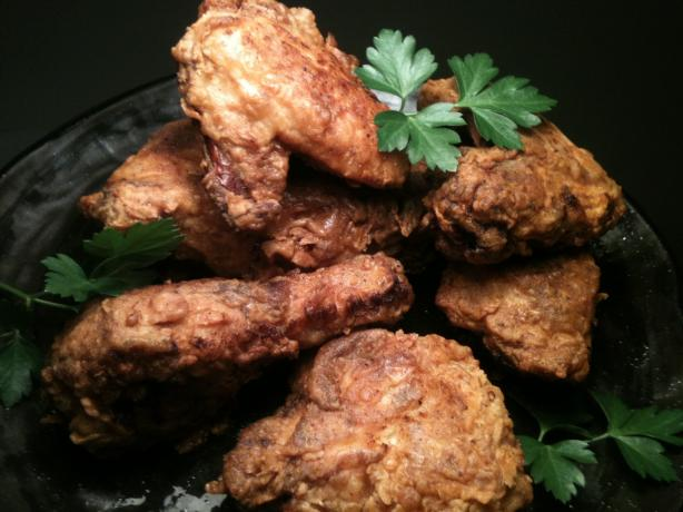 Paula Dean's Spicy Buttermilk Fried Chicken. Photo by guitarfoodie