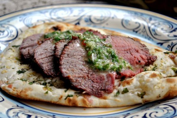 Argentinian Grilled Flank Steak With Chimichurri Sauce. Photo by Andi of Longmeadow Farm