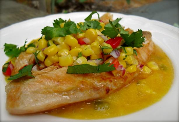Chilean Fish With Honey-Mango Sauce. Photo by PaulaG
