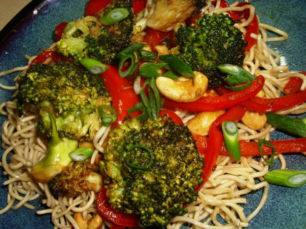Sydney Broccoli, Red Pepper &amp; Tofu Stir Fry With Balsamic Vi. Photo by Karen Elizabeth