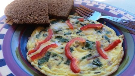 Swiss Chard & Goat Cheese Frittata. Photo by BakinBaby