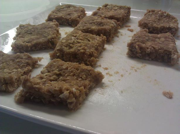 100 Calorie No Bake Whey Protein Bar Cookies. Photo by maileent