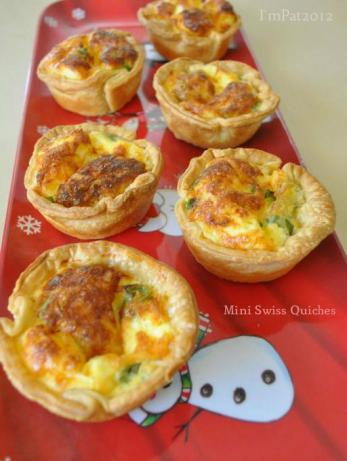 Mini Swiss Quiches. Photo by I'mPat