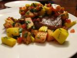 Grilled Tuna With Mango-Papaya Salsa