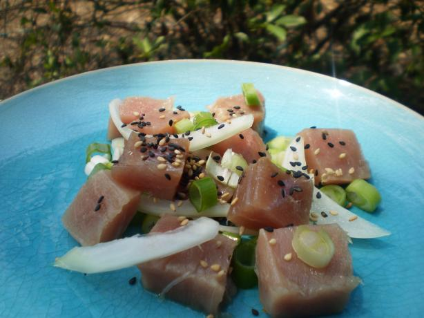 Hawaiian Red Tuna Poke. Photo by breezermom