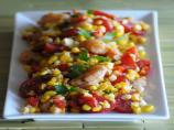 Fresh Corn Salad With Spicy Shrimp and Tomatoes