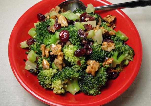 Broccoli With Nuts and Cherries. Photo by Debbwl