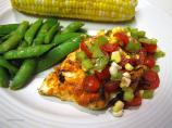 Curry in a Hurry Grilled Chicken With Salsa and Sugar Snap Peas