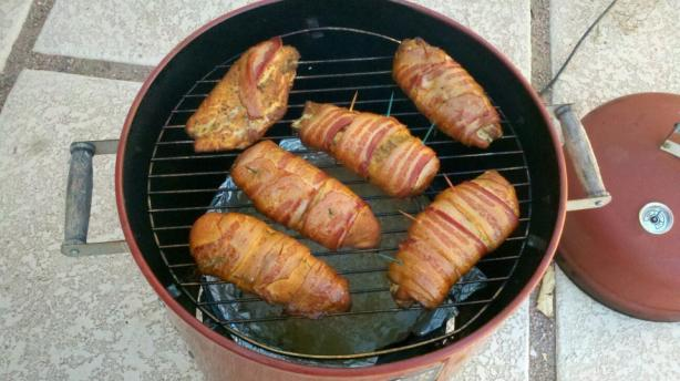 Smoked Bacon Wrapped Chicken Breasts. Photo by SmokinNoob