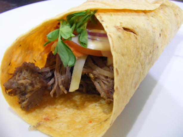 Shredded Beef Wraps. Photo by Sara 76