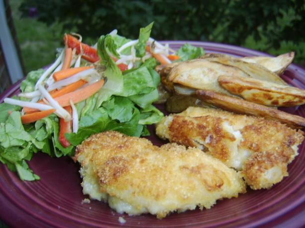Crumbed Chicken With Potato Wedges. Photo by LifeIsGood
