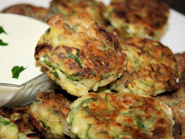 Mediterranean Zucchini Fritters With Sensational Yogurt Sauce. Photo by **Jubes**