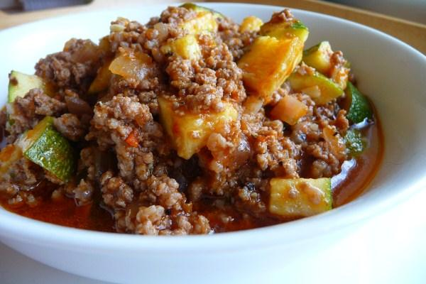 Zucchini and Ground Beef Casserole. Photo by Tea Jenny