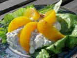1950s Picture Salad:  Peach and Cottage Cheese