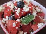 Watermelon Blueberry Salad Witha Hint of Heat