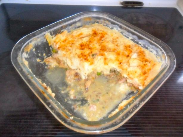 Creamy Corn Smoked Fish Pie. Photo by hard62