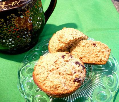 Healthy Oat Bran & Raisin Muffins. Photo by Mikekey