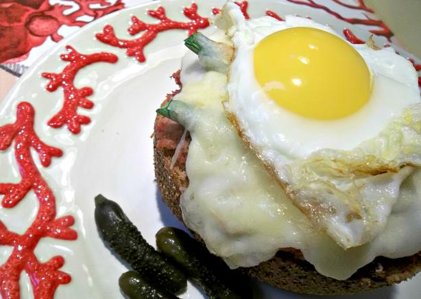 Rachael Ray&#39;s Deviled Ham Croque Madame. Photo by FLKeysJen