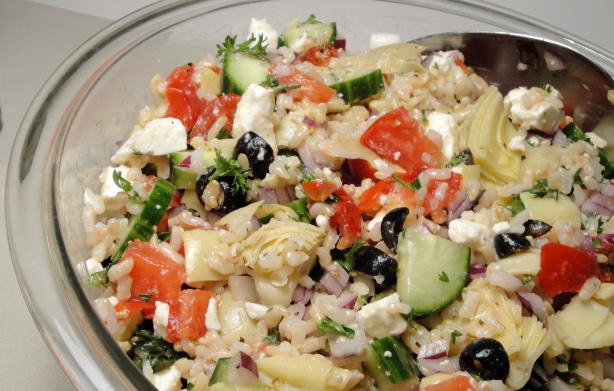 Greek Rice Salad. Photo by Debbwl