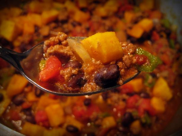 Chipotle Butternut Venison Chili. Photo by *Huntergirl*