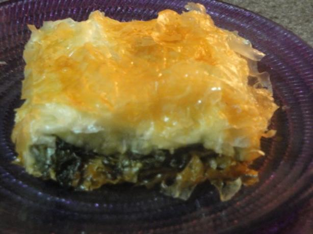 Spanakopita (Greek Spinach and Feta Pie). Photo by Muffin Goddess