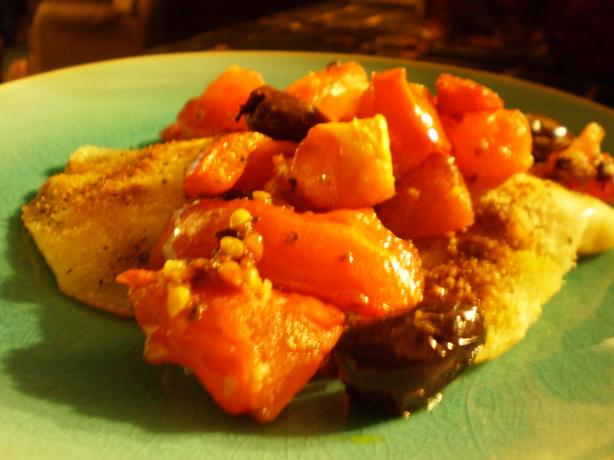 Halibut With Tomatoes and Olives. Photo by breezermom