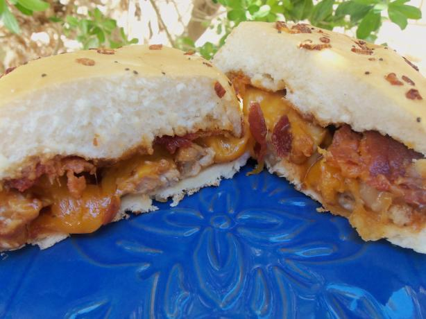 BBQ Chicken and Cheddar Sandwiches. Photo by AZPARZYCH