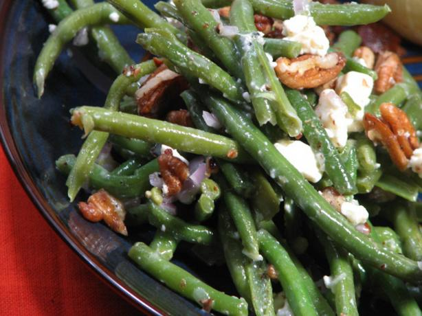 Green Beans, Toasted Pecans, and Blue Cheese. Photo by Kerfuffle-Upon-Wincle